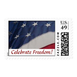 ¡Celebre la libertad! Sellos Postales