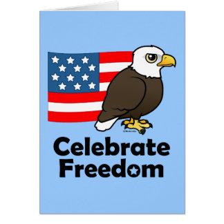 Celebre la libertad tarjetas