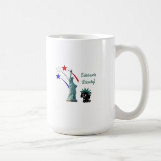 Celebre la libertad tazas de café