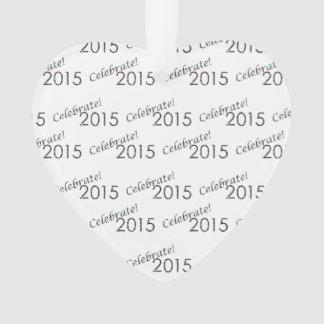 Celebre la plata de 2015 Años Nuevos en blanco