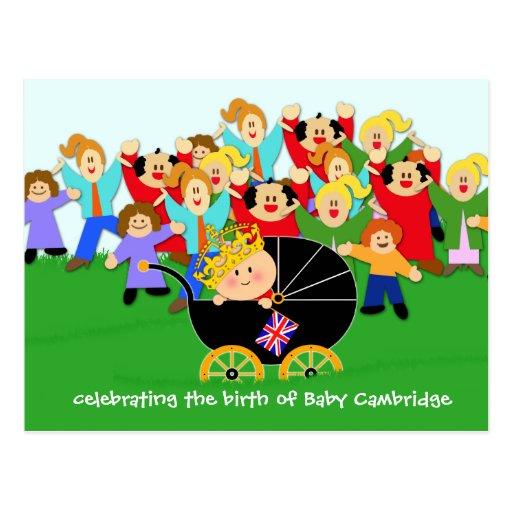 Celebre la postal de Cambridge del bebé