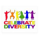 Celebre la postal de la diversidad
