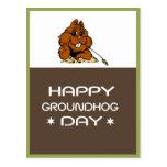 Celebre la postal del día de la marmota