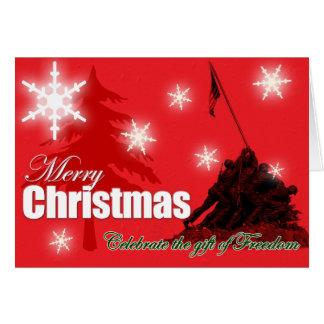 Celebre la tarjeta de Navidad militar de la libert