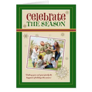 Celebre la tarjeta del día de fiesta de la familia