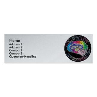 Celebre la tarjeta del perfil de Neurodiversity Tarjetas De Visita Mini
