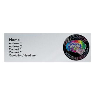 Celebre la tarjeta del perfil de Neurodiversity Plantilla De Tarjeta De Visita