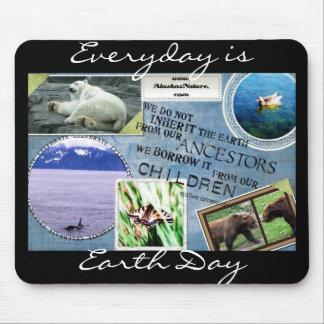 Celebre la tierra Day~ diario es Día de la Tierra Alfombrillas De Raton