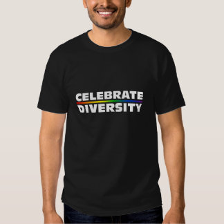 Celebre las camisetas oscuras de la diversidad remeras