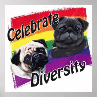 Celebre los barros amasados de la diversidad posters