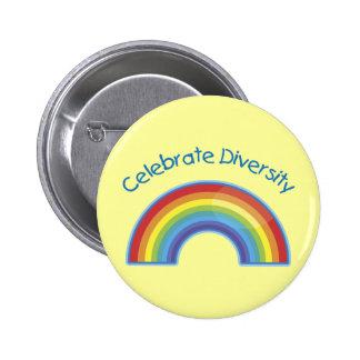 Celebre los botones del niño de la diversidad
