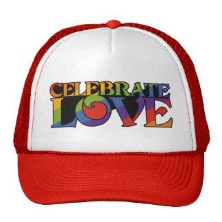 Celebre los gorras del amor