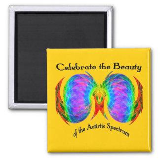 Celebre los imanes del espectro imán cuadrado