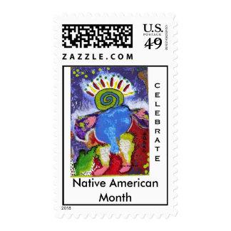 Celebre los sellos de USPS del mes del nativo amer