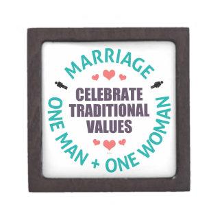 Celebre los valores tradicionales caja de recuerdo de calidad
