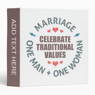 """Celebre los valores tradicionales carpeta 1 1/2"""""""