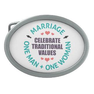 Celebre los valores tradicionales hebillas de cinturon ovales