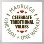 Celebre los valores tradicionales impresiones