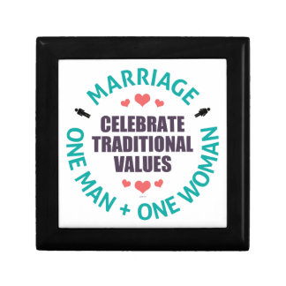 Celebre los valores tradicionales joyero cuadrado pequeño