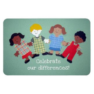 ¡Celebre nuestras diferencias! Imán Rectangular