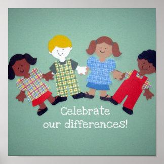 ¡Celebre nuestras diferencias! Poster