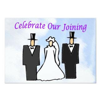 """Celebre nuestro unirse a invitación 5"""" x 7"""""""