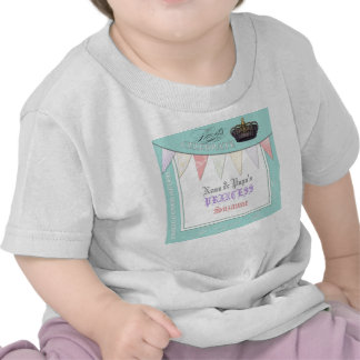Celebre real a princesa Birthday de la papá de Nan Camiseta