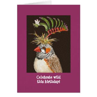 ¡Celebre salvaje este cumpleaños! tarjeta del pinz