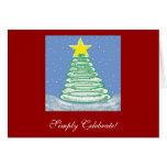 ¡Celebre simplemente! Tarjeta de Navidad