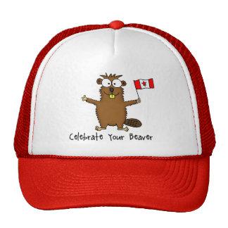 Celebre su gorra del castor