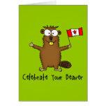 Celebre su tarjeta de felicitación del castor