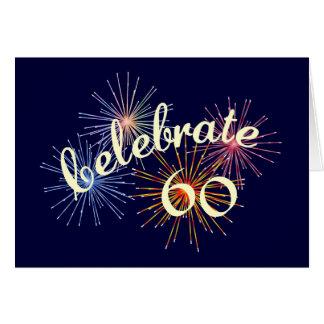 Celebre un 60.o cumpleaños tarjeta de felicitación