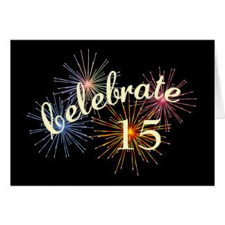 Celebre un décimo quinto aniversario tarjeta de felicitación