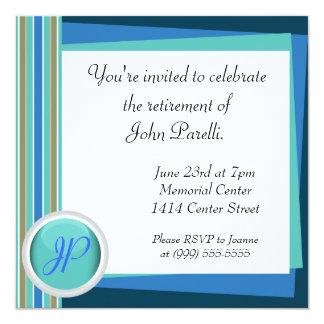 Celebre un retiro invitación 13,3 cm x 13,3cm