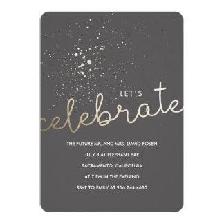 """¡Celebremos! Invitación 5"""" X 7"""""""