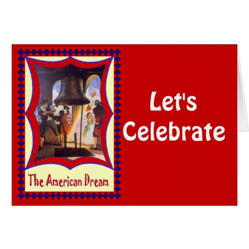 Celebremos, la campana de libertad tarjeton