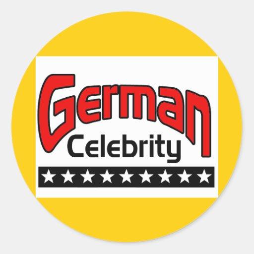 Celebridad alemana pegatina redonda
