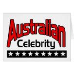 Celebridad australiana tarjetón