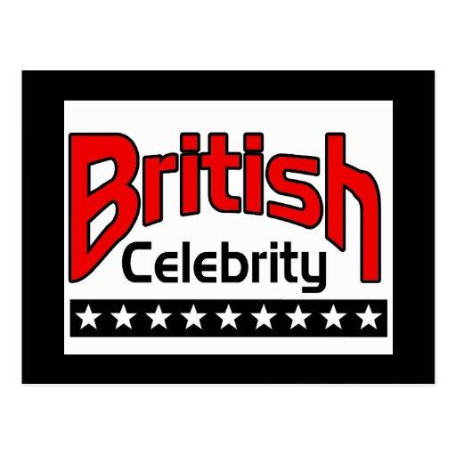 Celebridad británica tarjeta postal