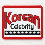 Celebridad coreana alfombrilla de raton