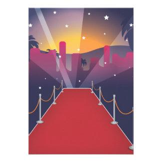 Celebridad de la alfombra roja invitacion personalizada