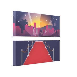 Celebridad de la alfombra roja lienzo envuelto para galerías