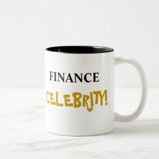¡Celebridad de las finanzas! Añada su nombre Taza De Dos Tonos
