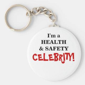 ¡Celebridad de salud y de la seguridad! - Compañer Llavero Redondo Tipo Pin