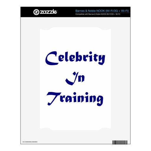 Celebridad en el entrenamiento calcomanía para el NOOK