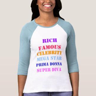 Celebridad famosa de los ricos camisetas