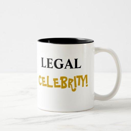 ¡Celebridad legal! Añada su nombre Taza Dos Tonos