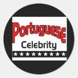 Celebridad portuguesa pegatina redonda