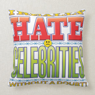 Celebrities Hate Face Throw Pillow