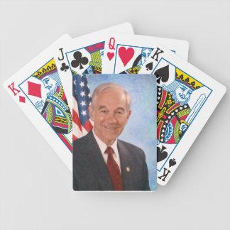 celebrities ron paul 3 poker cards